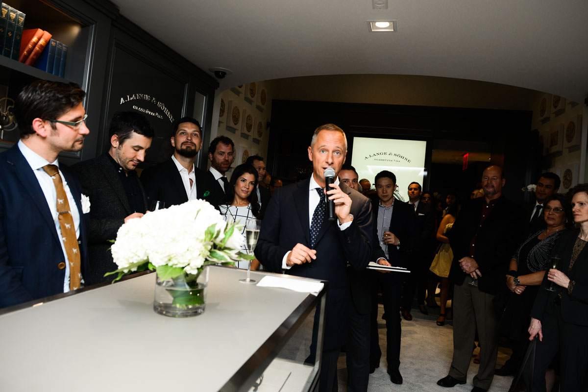 Opening the A. Lange & Söhne Boutique in New York City