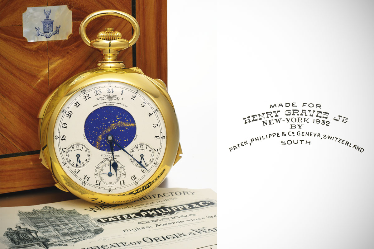 Henry Graves Patek Philippe Supercomplication set a new record of CHF 20,600,000 at Sotheby's auction