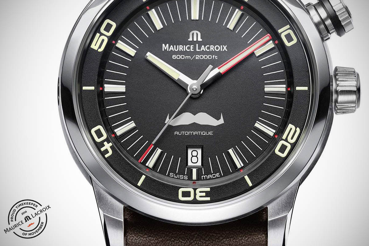 Maurice Lacroix Pontos S Diver Movember Limited Edition (specs and price)