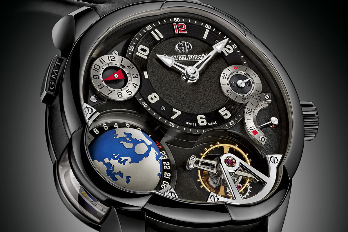 Pre SIHH 2015: Greubel Forsey GMT titanium Black ADLC – The Dark Side and the Earth (specs and price)