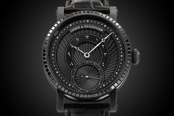 Grieb & Benzinger Pharos Centurion Imperial in Palladium with Black Diamonds – Specs and price