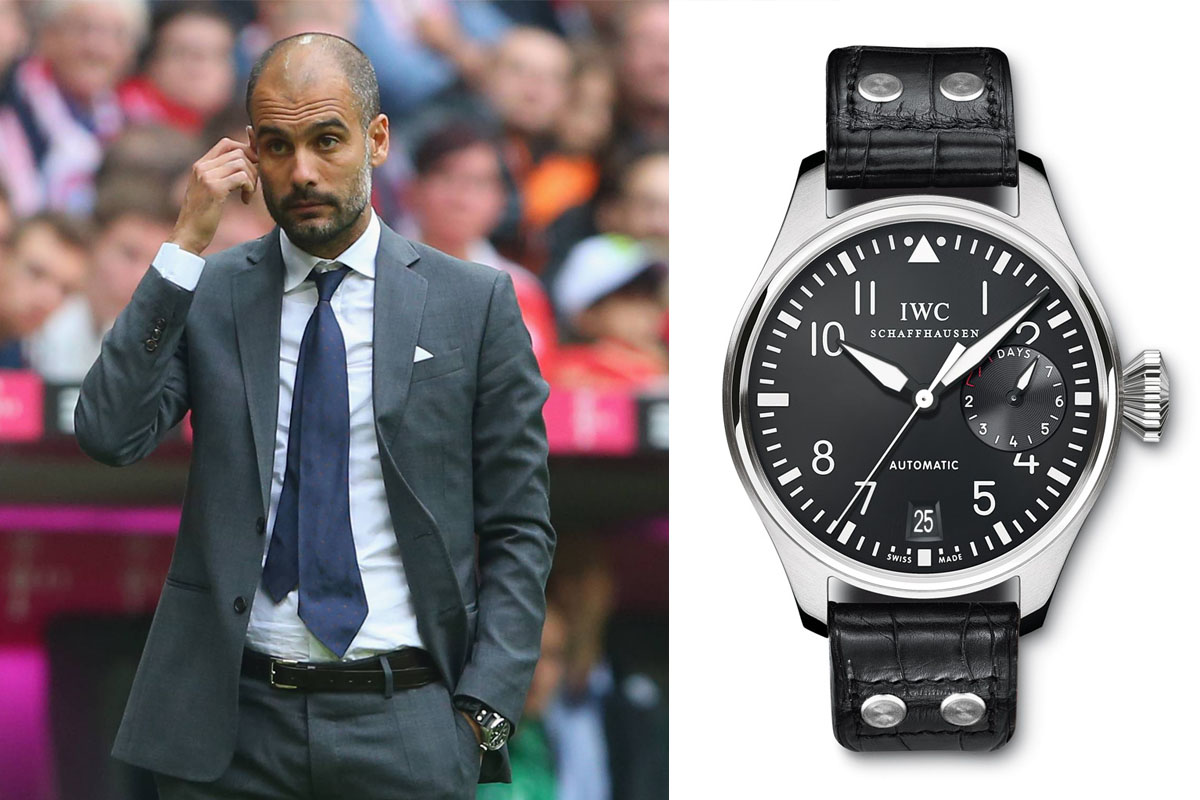 Watching celeb watches pep guardiola monochrome watches for Top celebrity watches