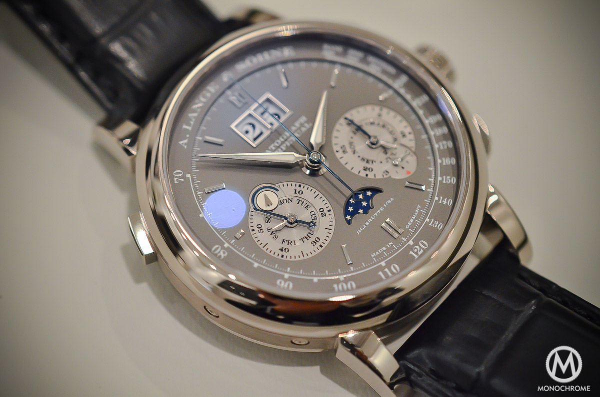 SIHH 2015 – A. Lange & Sohne Datograph Perpetual Grey Dial White Gold – Hands-on with live photos, specs & price