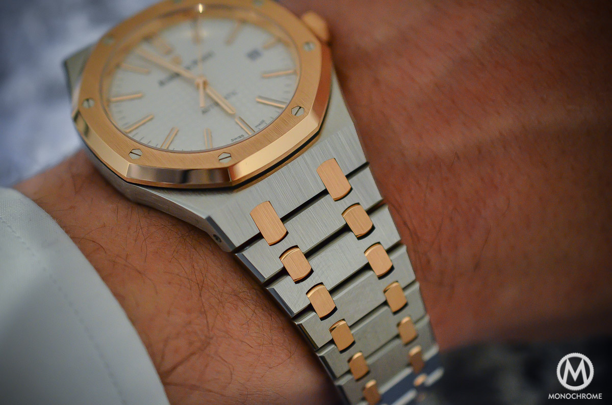 SIHH 2015 – Audemars Piguet Royal Oak 15400 Two-Tone – hands-on with live photos, specs & price