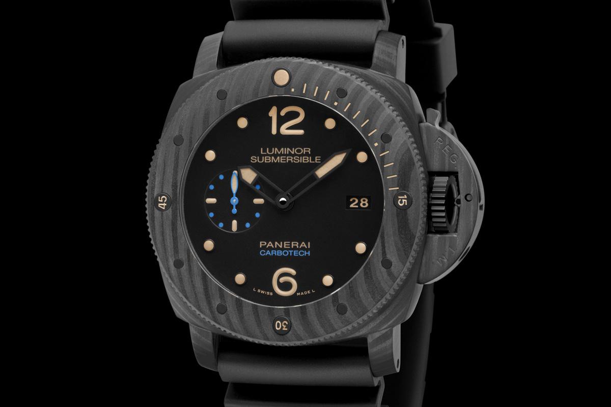 réplicas panerai Luminor sumergible 1950 Carbotech 3 días automático de la revisión PAM00616 reloj