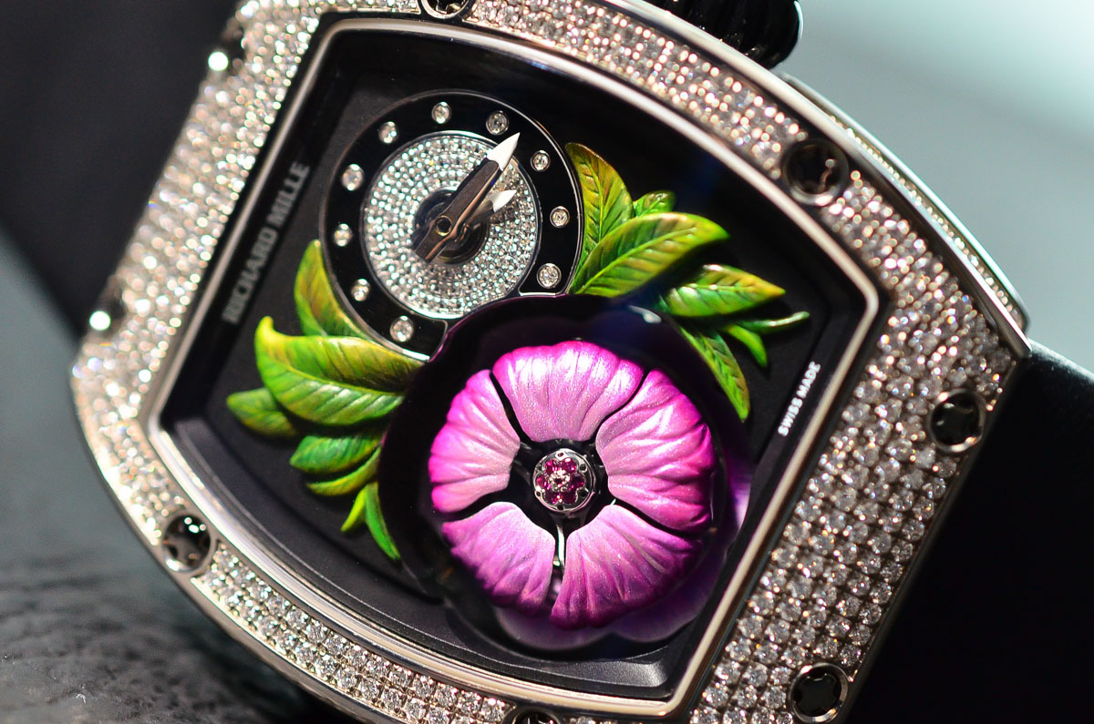 SIHH 2015 – Richard Mille RM 19-02 Tourbillon Fleur – hands-on with live photos & specs