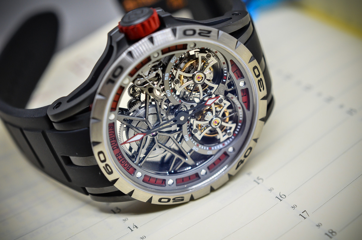 SIHH 2015 – Roger Dubuis Excalibur Spider Double Flying Tourbillon – Hands-on with Live photos