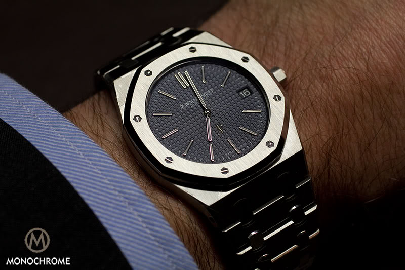 audemars perpetual watches oak oo piguet steel in royal calendar case watch collection en