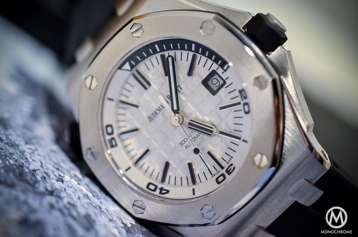 SIHH 2015 – Audemars Piguet Royal Oak Offshore Diver ref. 15710 – hands-on with live photos, specs & price