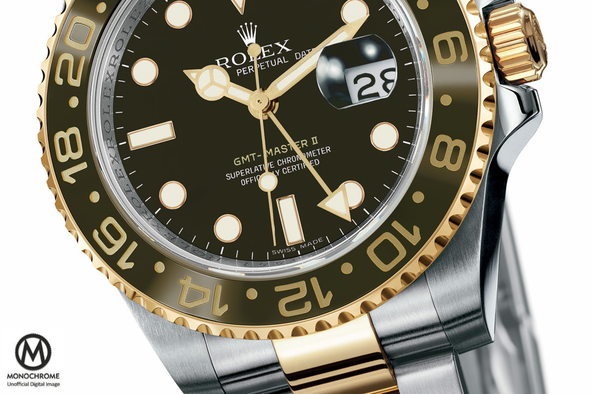 Rolex GMT Master 2 brown Ceramic two tone root beer Baselworld 2015 - 2