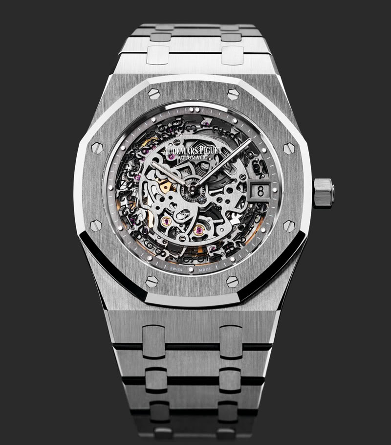 Pre sihh 2012 audemars piguet royal oak openworked extra thin 40th anniversary monochrome for Audemars watches