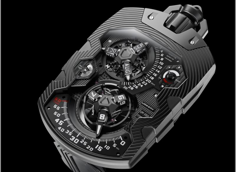 24 Hour Oil Change >> The über-cool URWERK UR-1001 Pocket Watch - Monochrome Watches