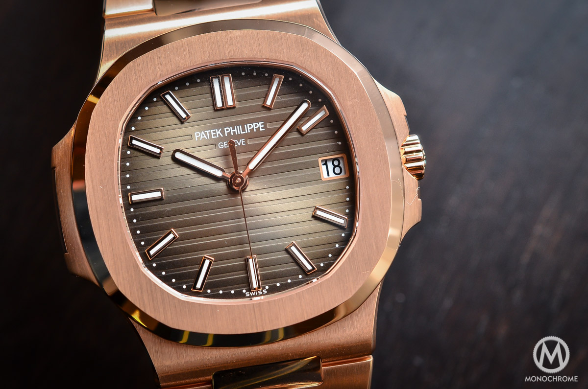 patek philippe nautilus 5711 1r 001 rose gold chocolate dial hands on with live photos