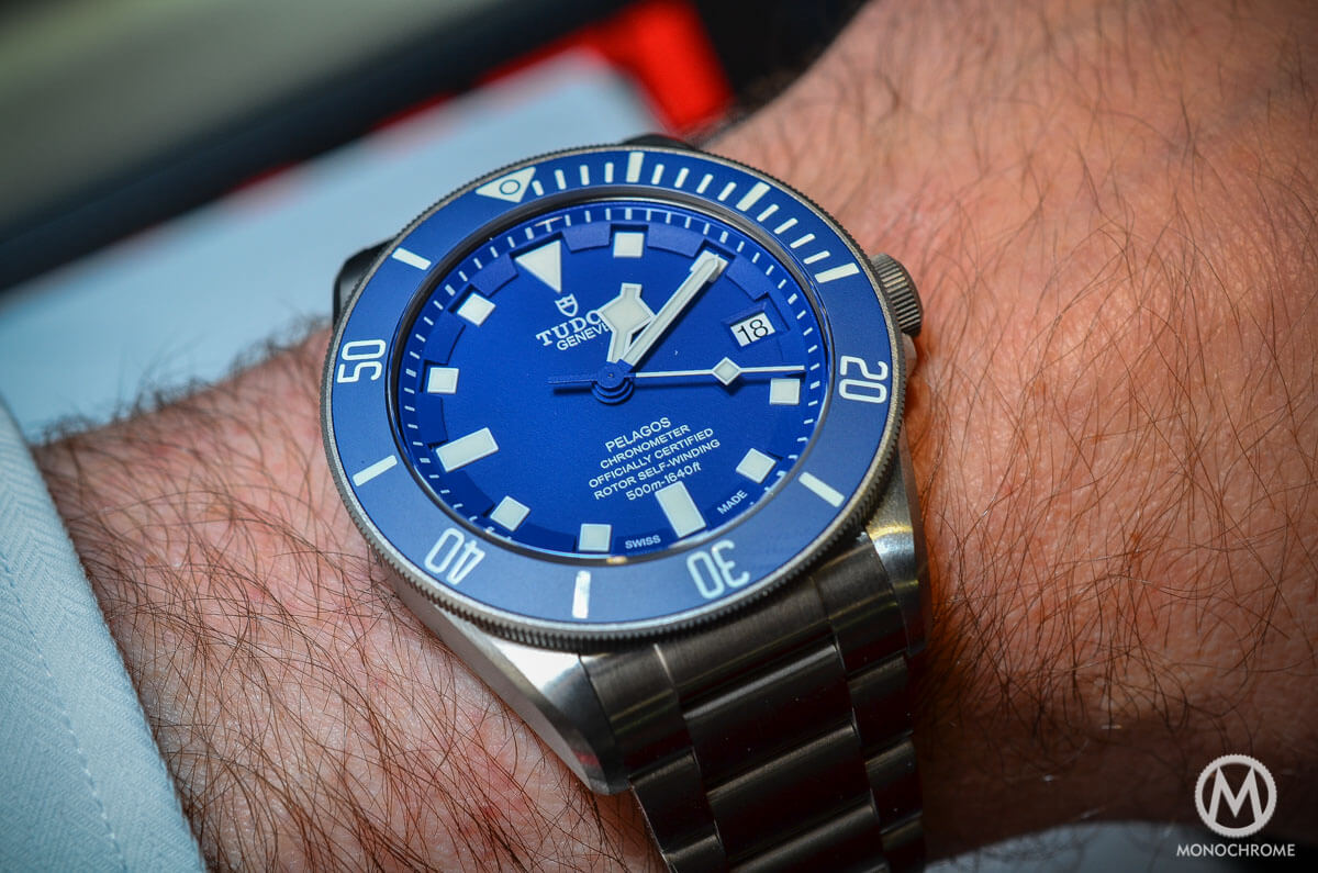 introducing the tudor pelagos blue and black with new in-house