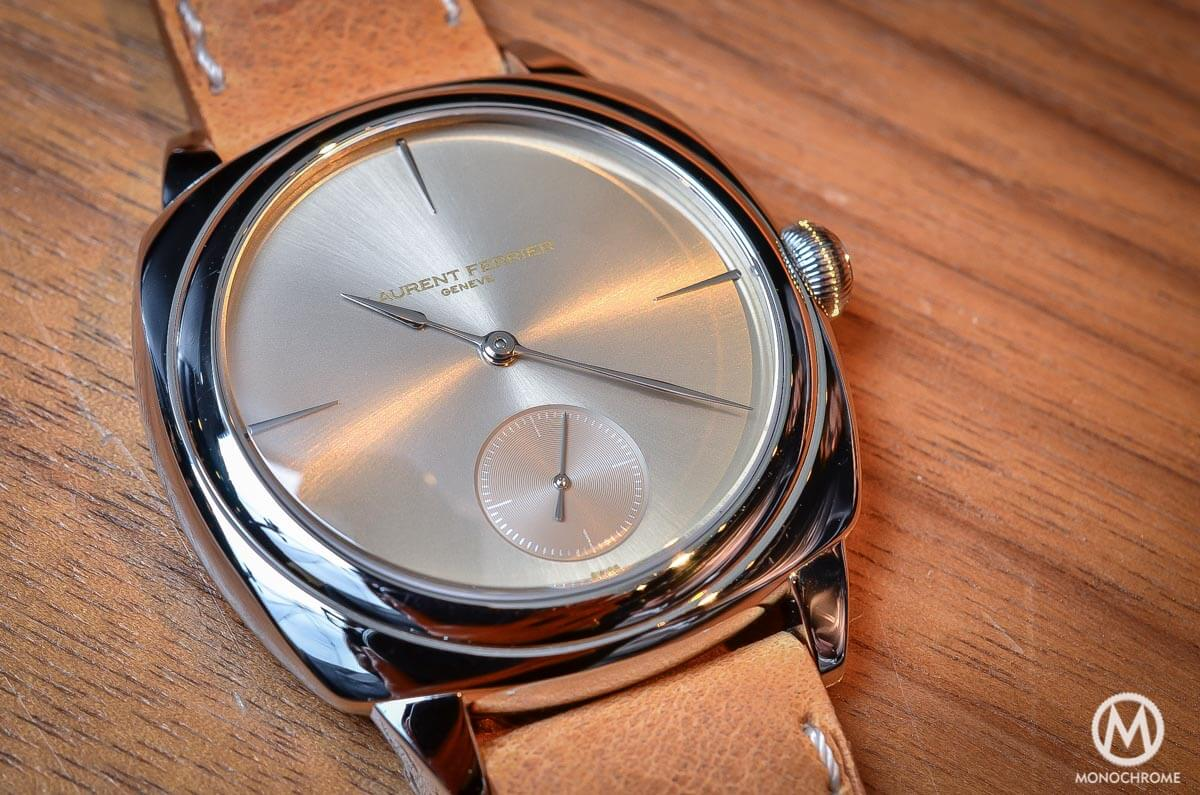 laurent ferrier galet square in stainless steel on