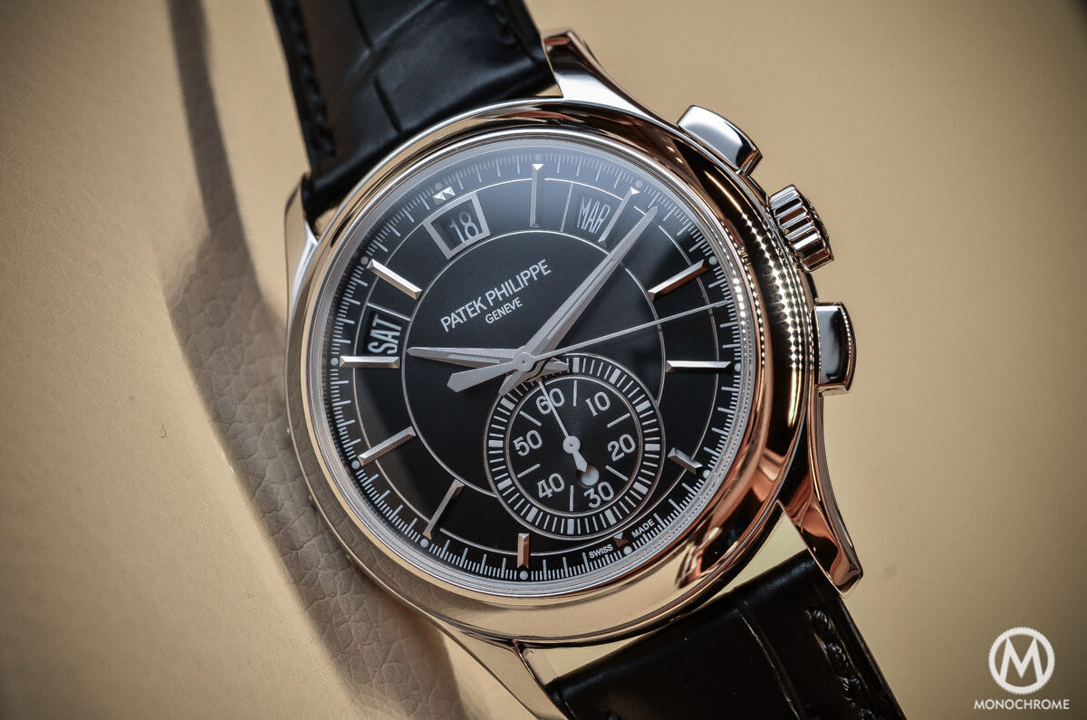 Patek philippe annual calendar chronograph ref 5905p hands on review with live photos specs for Patek watches