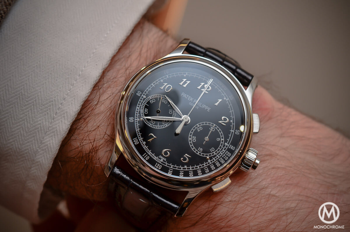 Back to basics the patek philippe ref 5370 split seconds chronograph review with live photos for Patek philippe