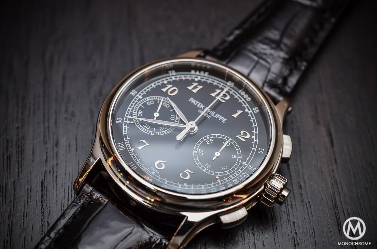 Back to basics the patek philippe ref 5370 split seconds chronograph review with live photos for Patek watches
