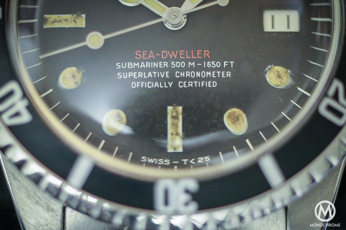 prototype Replica Rolex Single Red Sea-Dweller Ref. 1665 - 500M-1650FT - 4