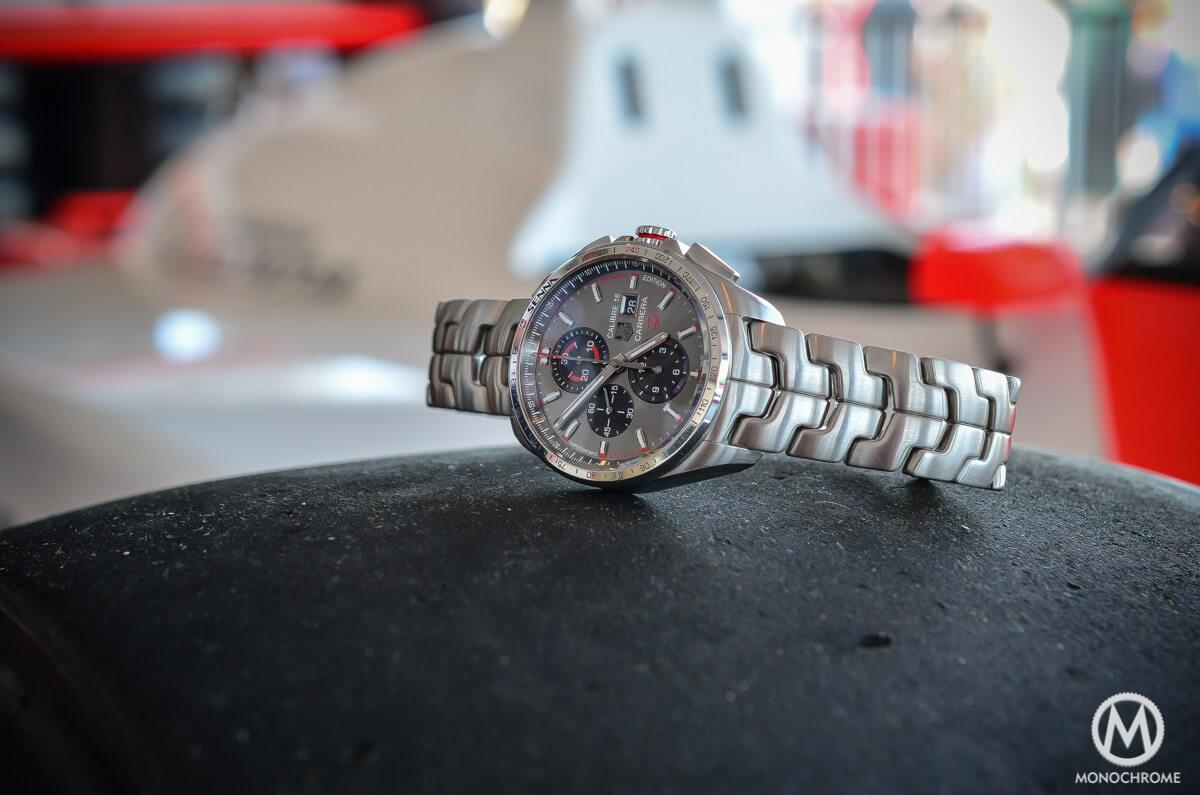 TAG Heuer Carrera Calibre 16 Senna steel link bracelet - 1