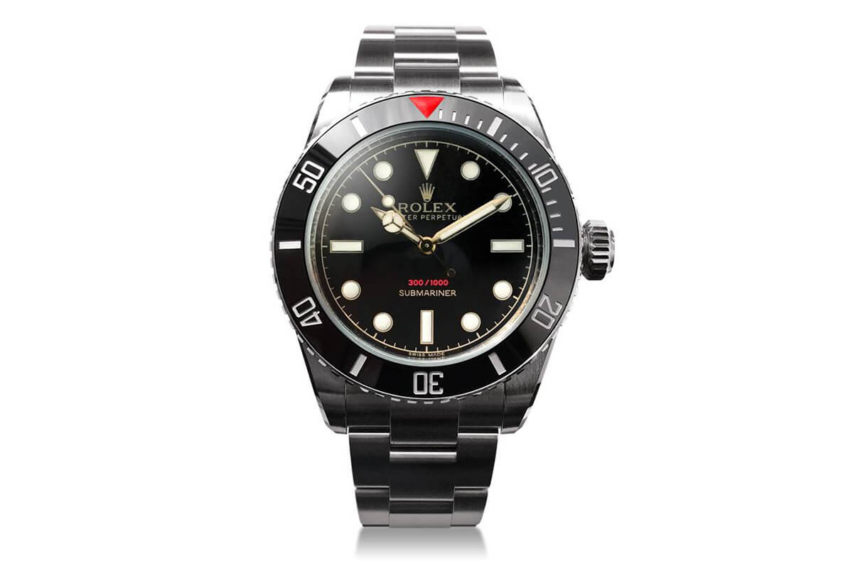 Tempus machina ref 216a a customized rolex submariner reminiscent of the ref 6538 live pics for Submarine watches