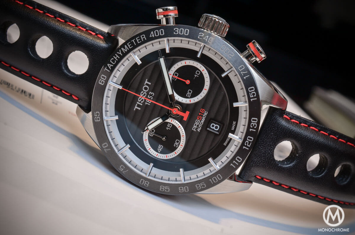 of the new Tissot PRS 516 Automatic Chronograph (live pics & price