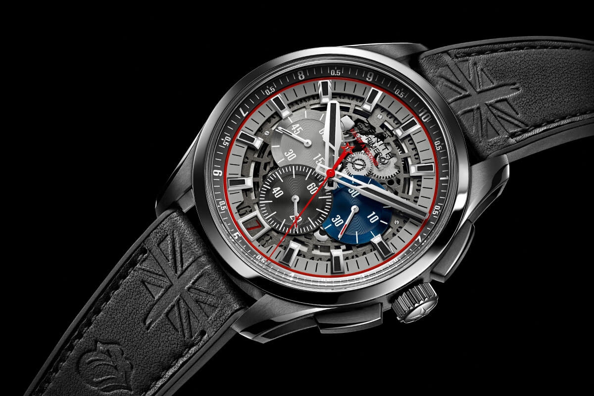 only watch 2015 unique zenith el primero striking 10th lightweight tribute to the rolling. Black Bedroom Furniture Sets. Home Design Ideas