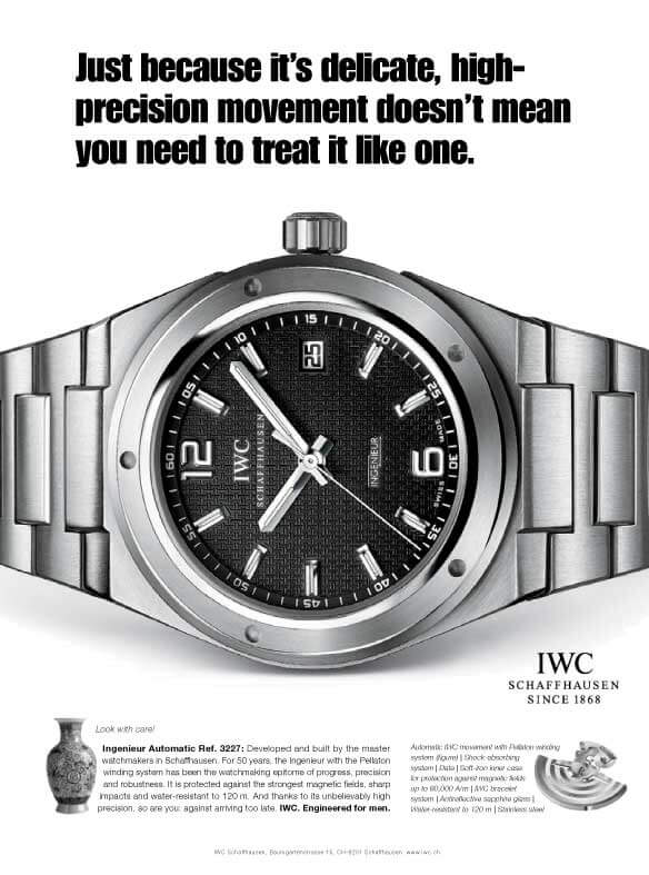 IWC ad engineered for men