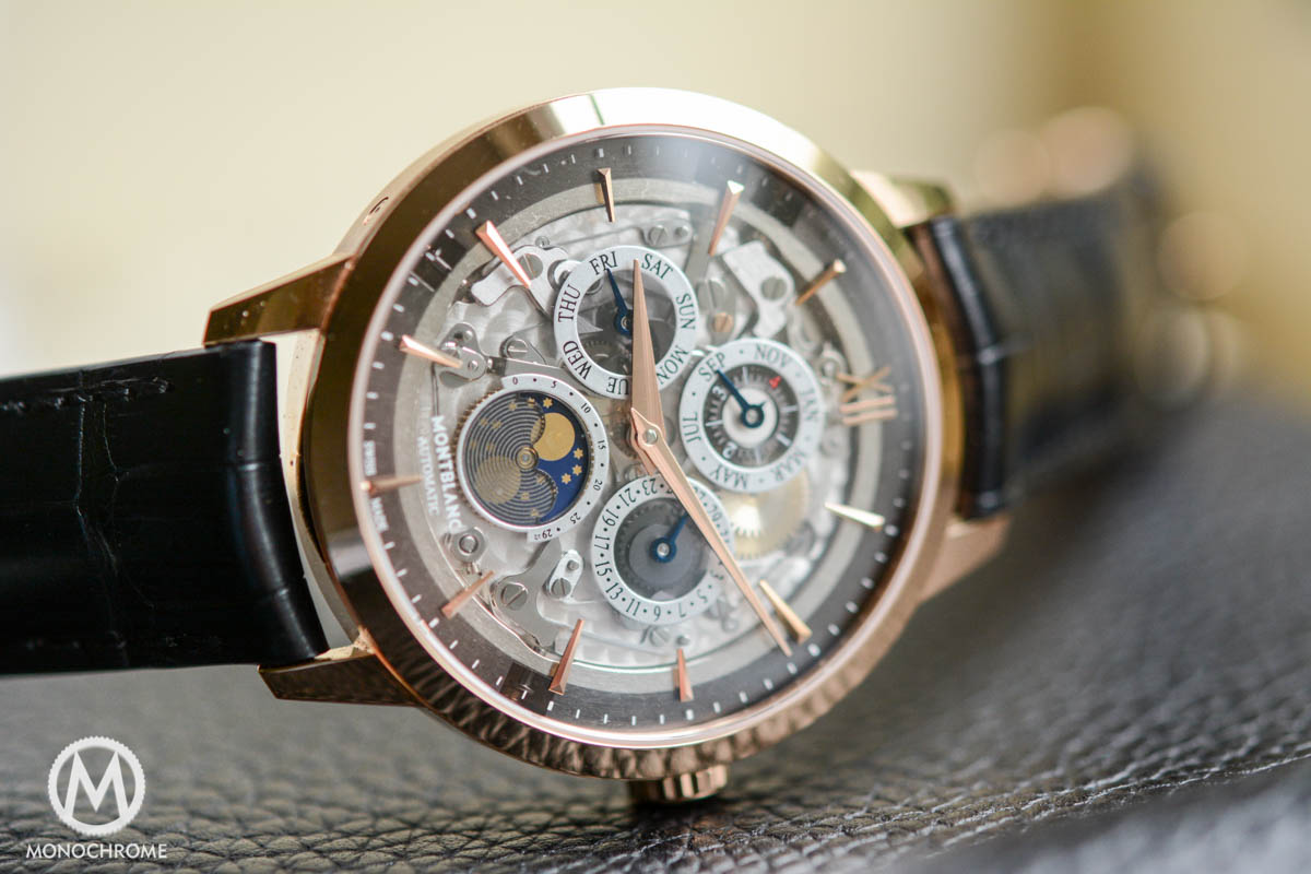 Montblanc Heritage Spirit Perpetual Calendar with smoked sapphire dial see through