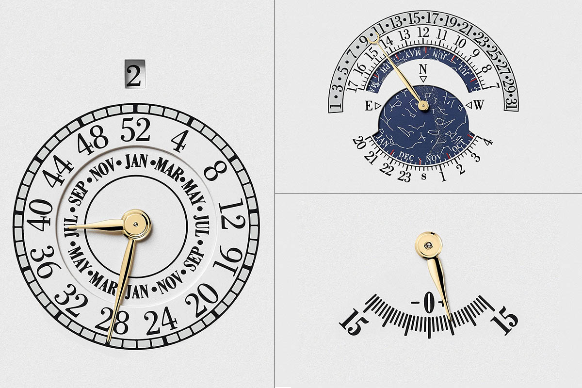 months and week number, star chart and Equation of Time