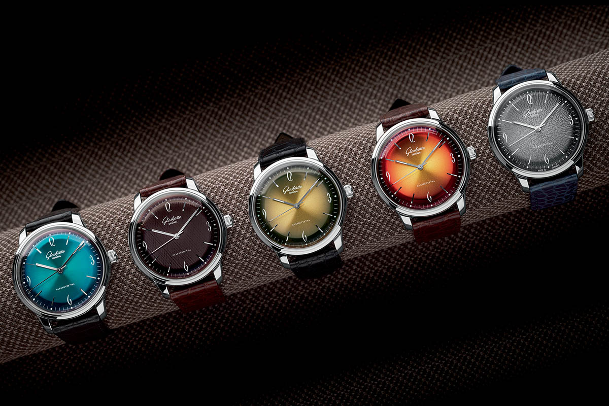 Glashutte Original Sixties colored dials collection