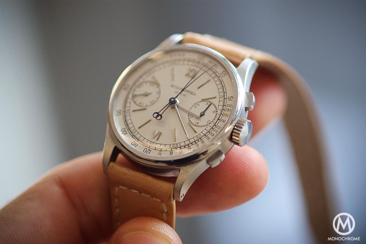 1 Philippe Chronograph 1436 Steel Split Monochrome Patek