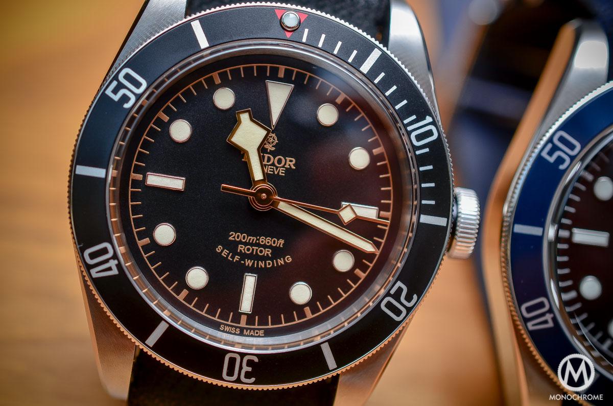 Tudor Black Bay Black Bezel 79220N - dial detail