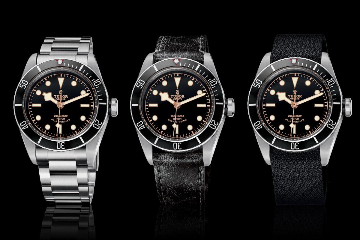Tudor Black Bay Black Bezel 79220N - full collection - steel bracelet - leather strap - fabric strap