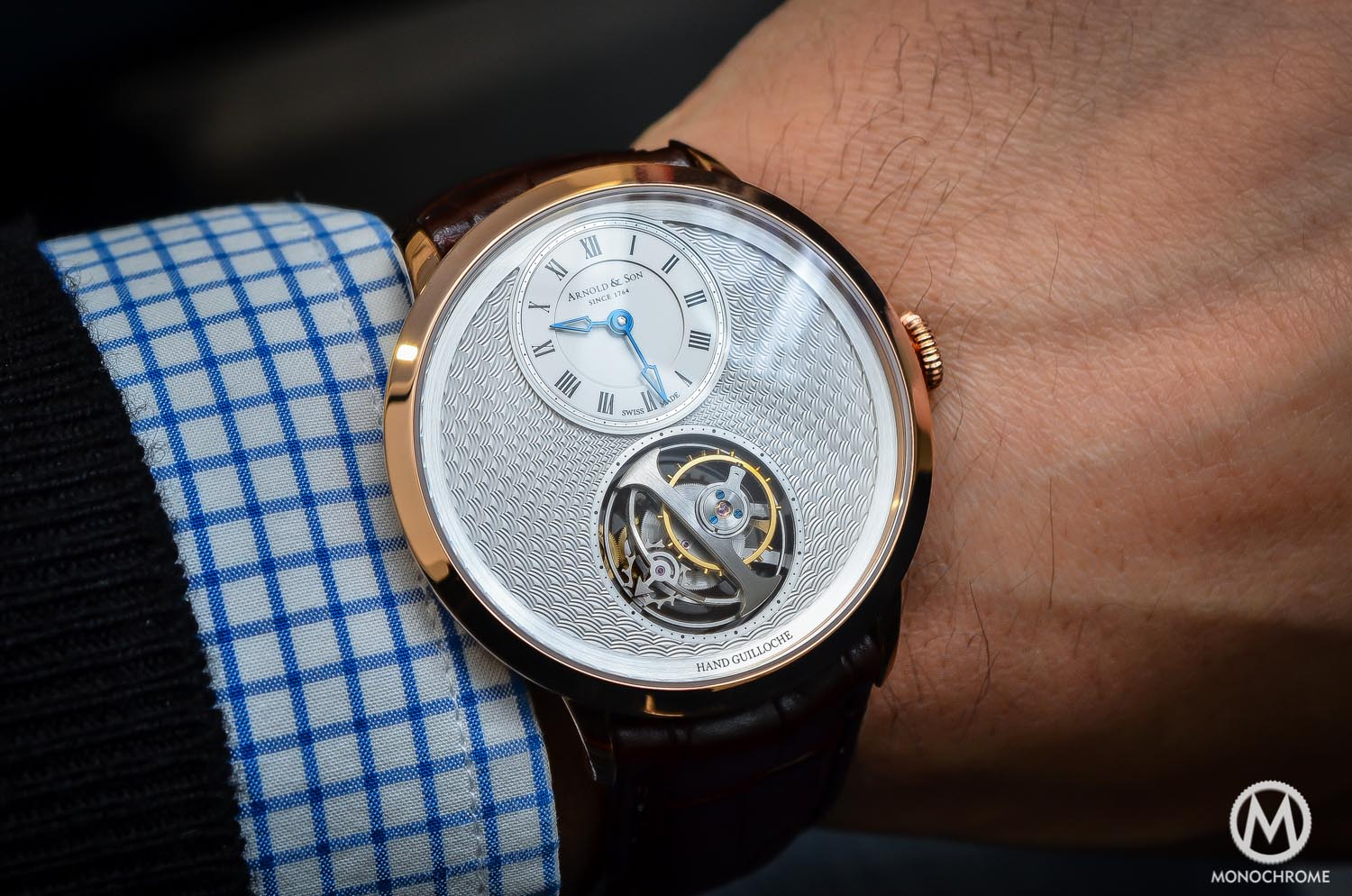 Hands-on – The Arnold and Son UTTE – Ultra Thin Tourbillon Escapement, with hand guilloche dial (live pics & price)