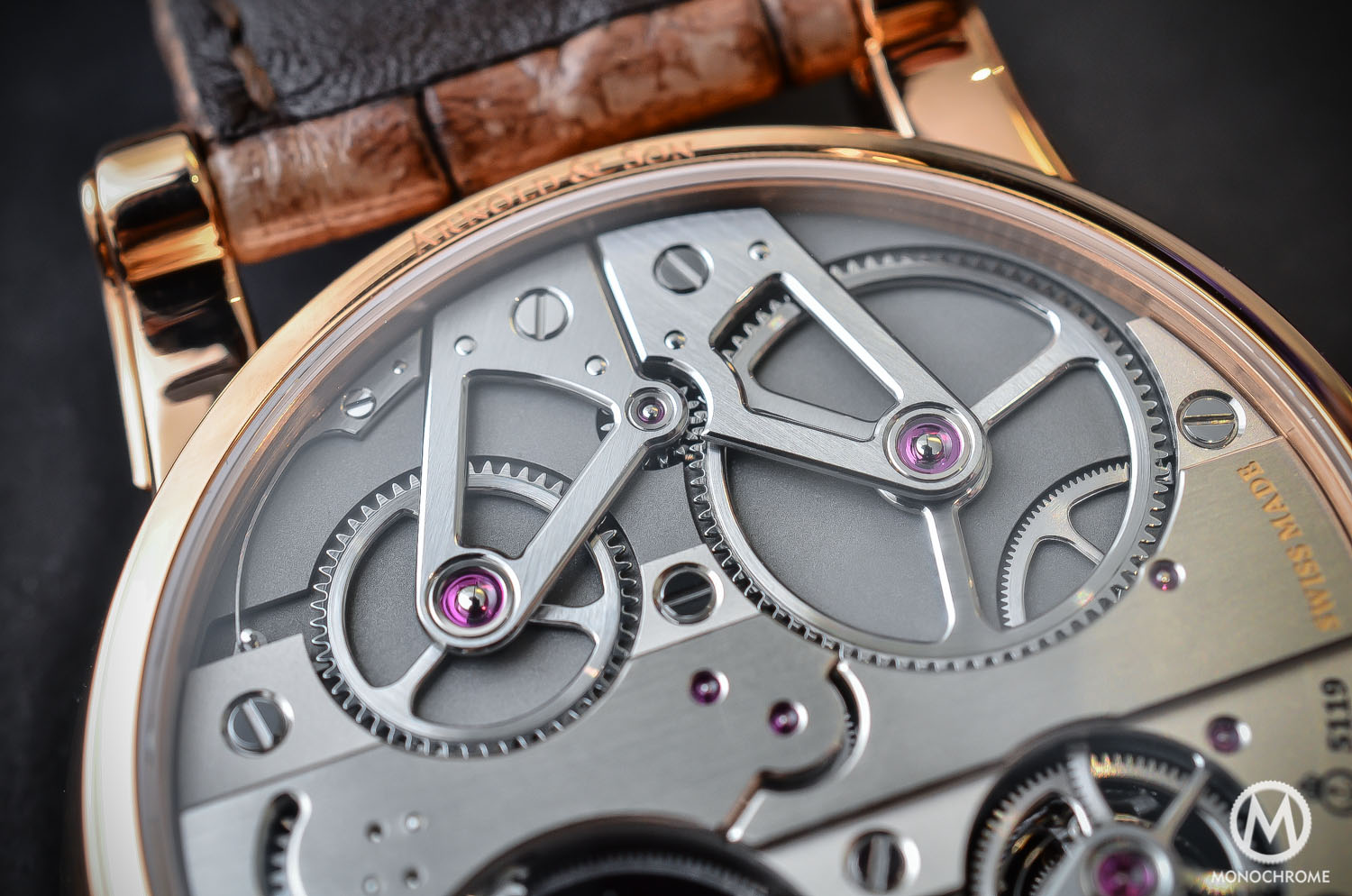 Arnold and Son Constant Force Tourbillon - hands-on review - movement close up