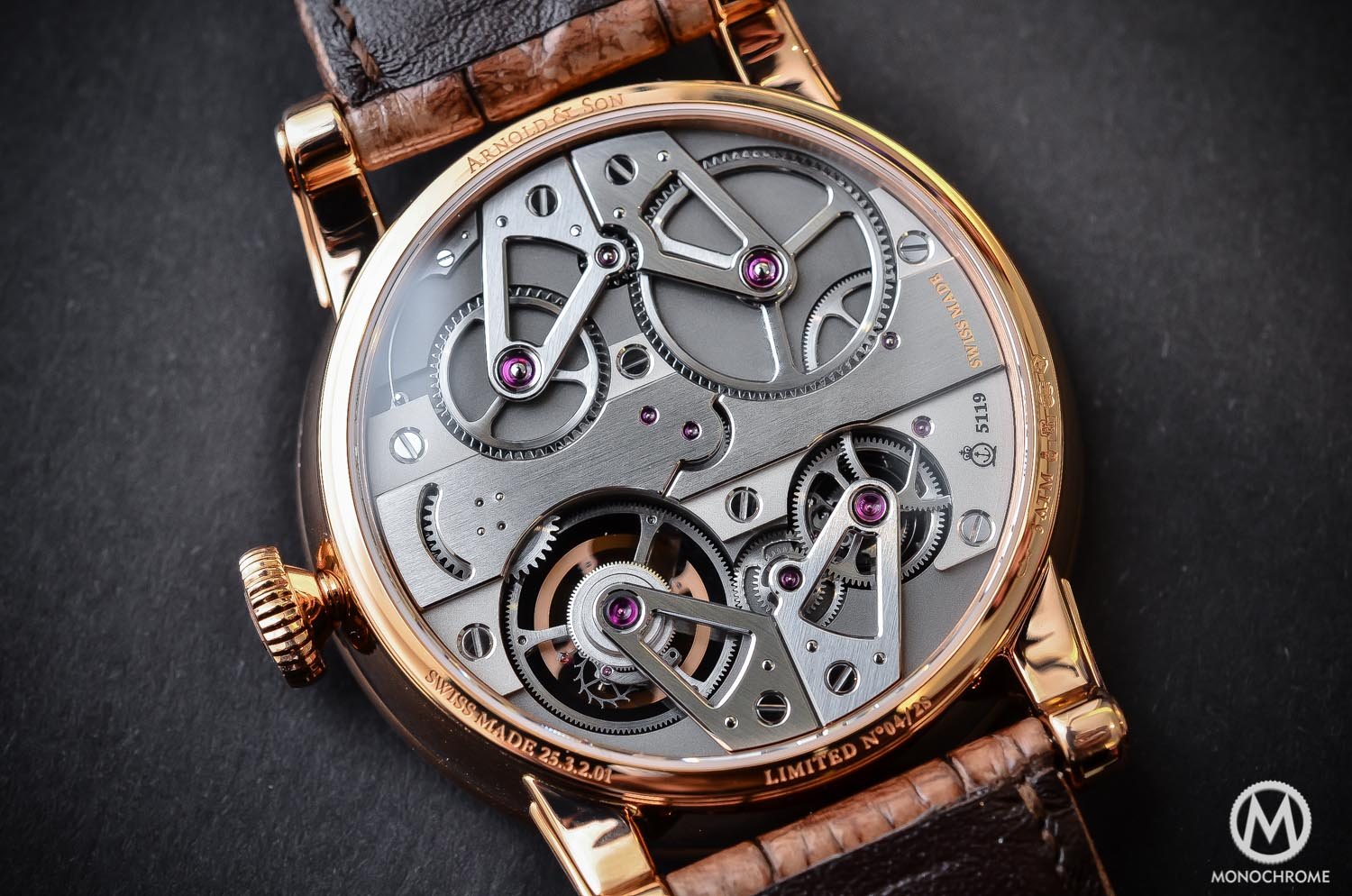 Arnold and Son Constant Force Tourbillon - hands-on review - movement