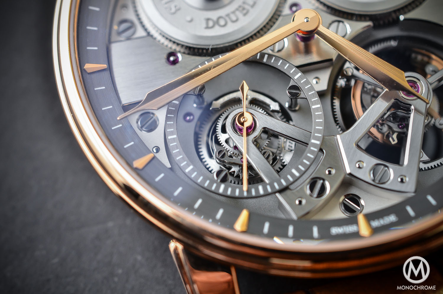 Arnold and Son Constant Force Tourbillon - hands-on review - remontoir close up