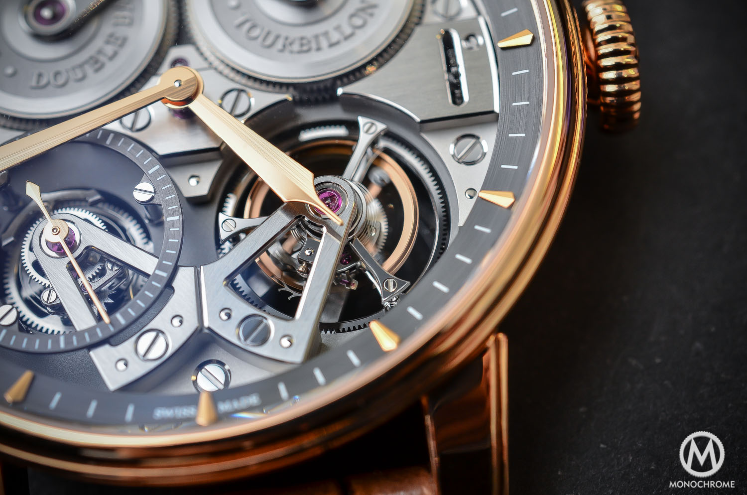 Arnold and Son Constant Force Tourbillon - hands-on review - tourbillon close up