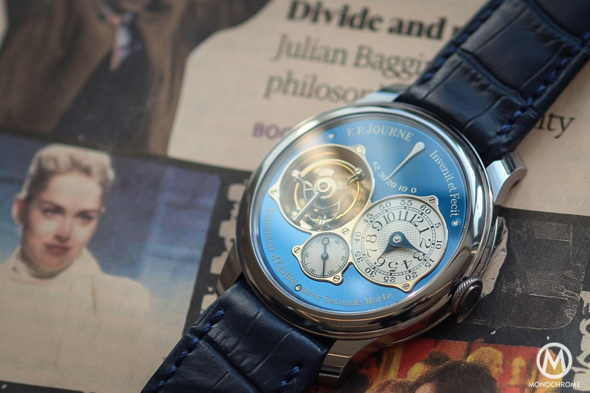 Unique FP Journe Tourbillon Souverain Bleu in tantalum for Only Watch 2015 - 1