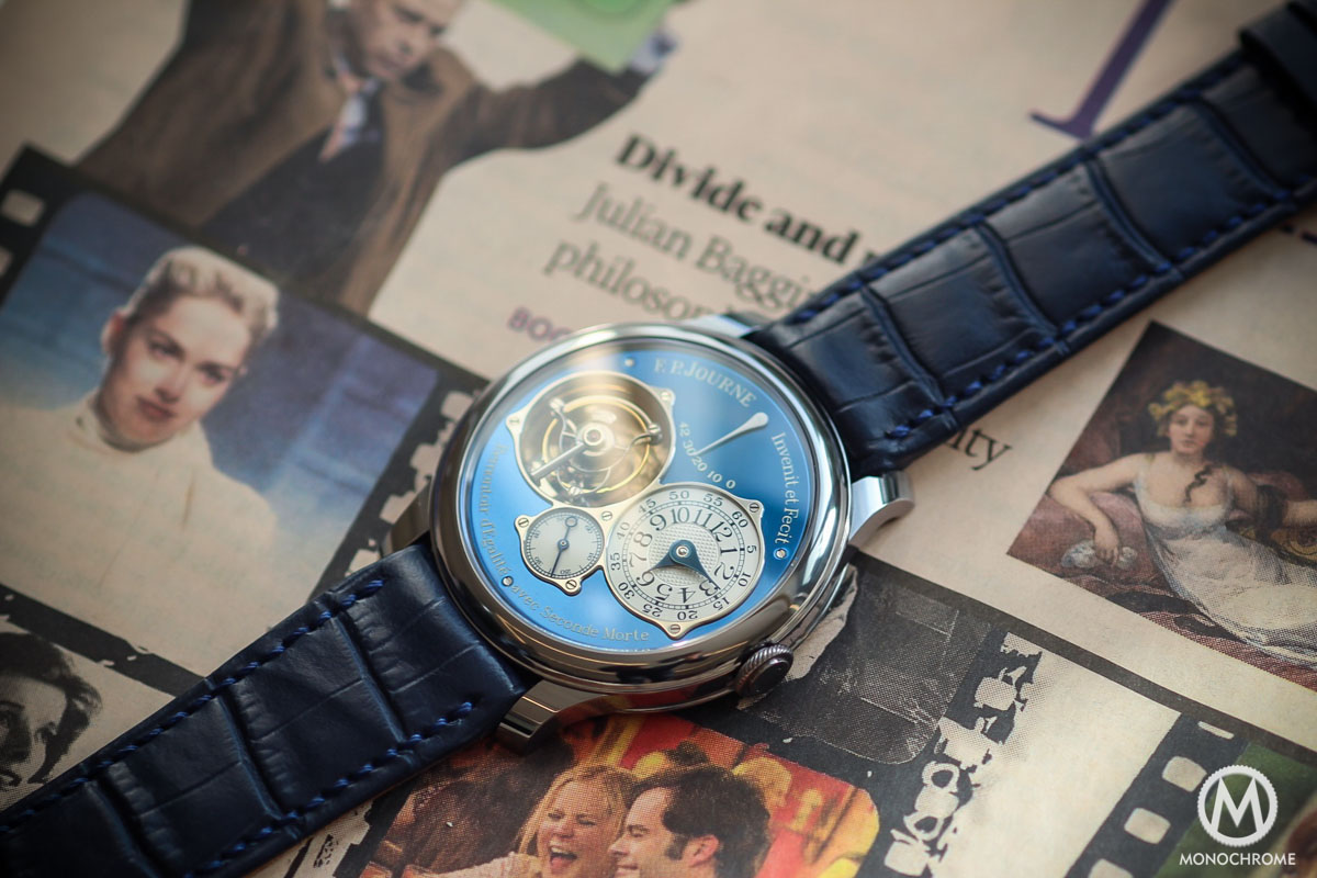 Unique FP Journe Tourbillon Souverain Bleu in tantalum for Only Watch 2015 - 3