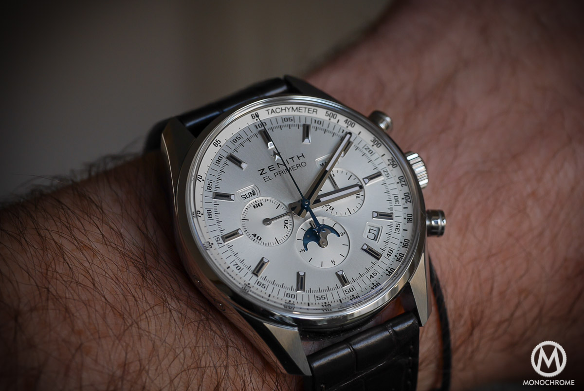 Zenith El Primero 410 Triple Calendar and MoonPhase Chronograph - on the wrist