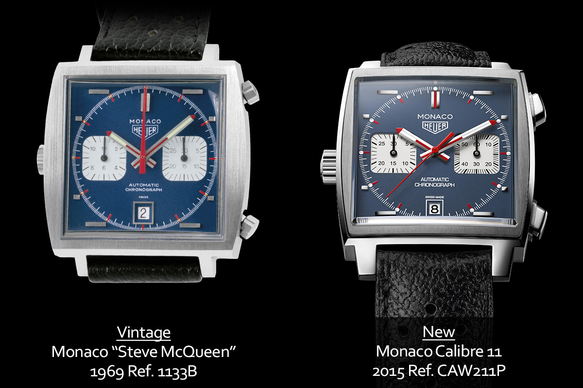 a look at the 2015 tag heuer monaco calibre 11 steve mcqueen ref caw211p live pics price. Black Bedroom Furniture Sets. Home Design Ideas