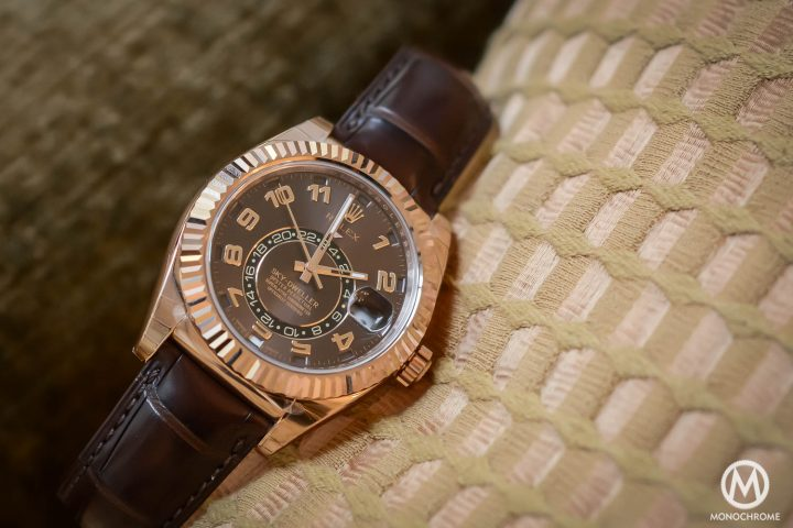 Rolex Sky-Dweller Review - Case and dial - everose gold chocolate brown dial