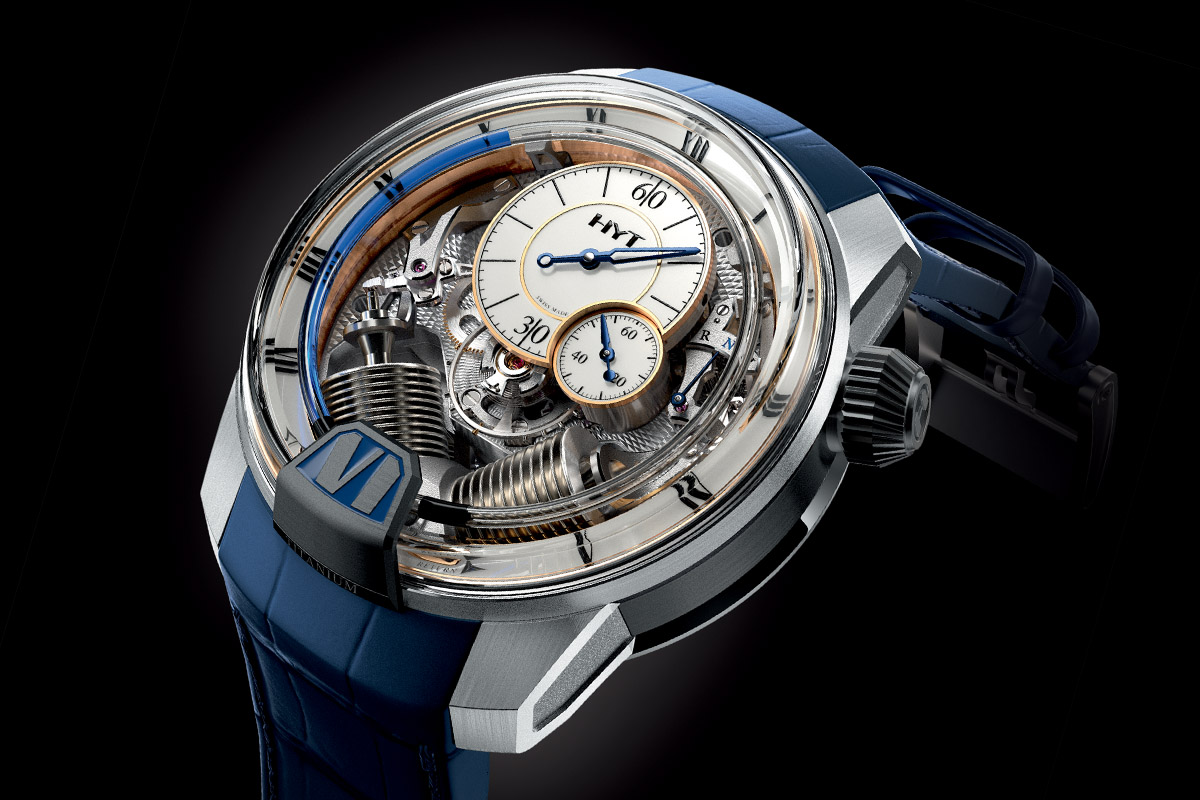 Pre-SIHH 2016 – HYT H2 Tradition – the Hydro Mechanical Horologist goes (a bit) retro (specs & price)