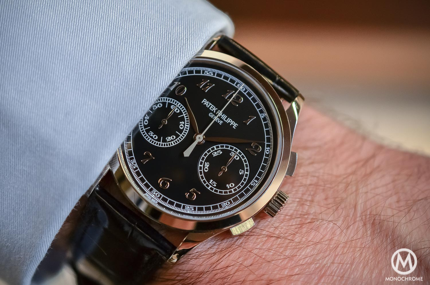 Patek Philippe 5170g-010 Chronograph - review - wristshot