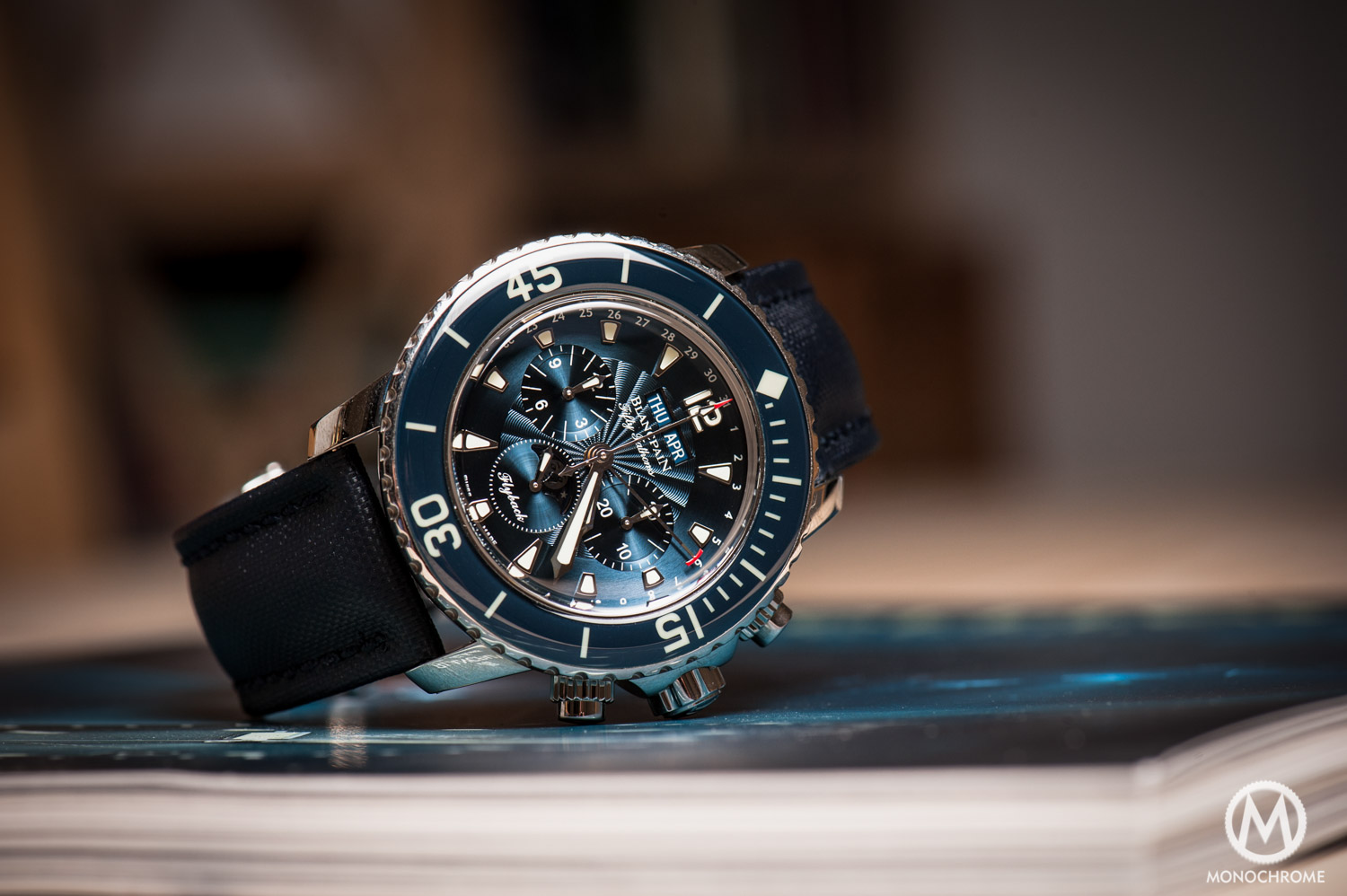 Blancpain Fifty Fathoms >> The Collector's Series - Diving deep with Mark's Blancpain Fifty Fathoms Chronographe Flyback ...