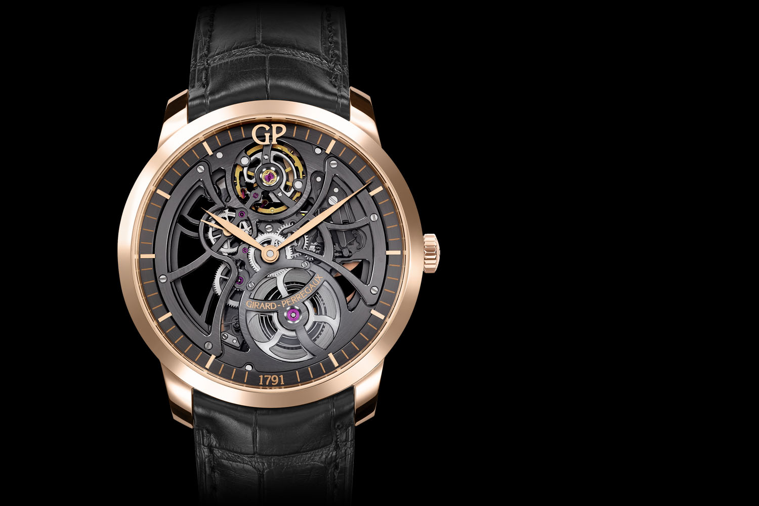 Pre baselworld 2016 introducing the girard perregaux 1966 skeleton monochrome watches for Girard perregaux