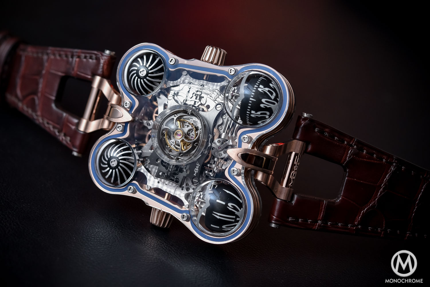 MB&F MH6 SV Sapphire Vision Red Gold - SIHH 2016
