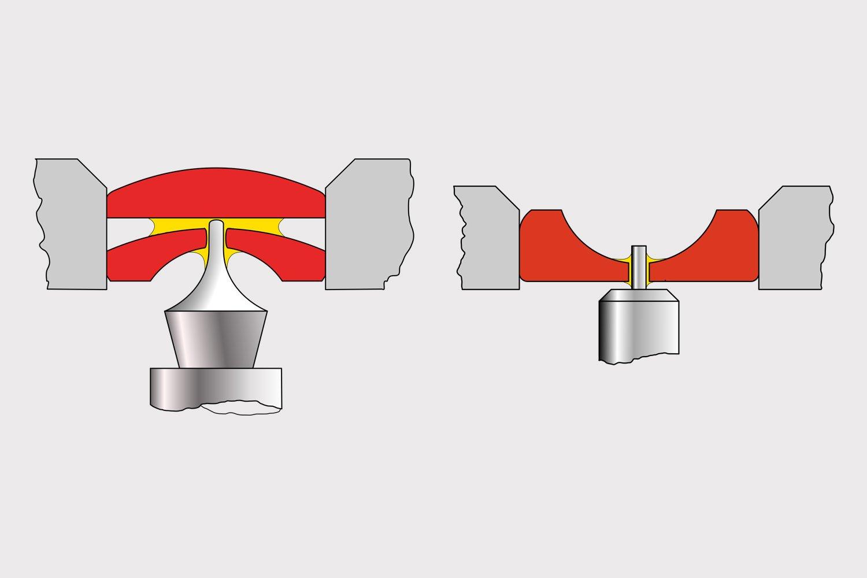 Cross section jewel bearing mechanical watch